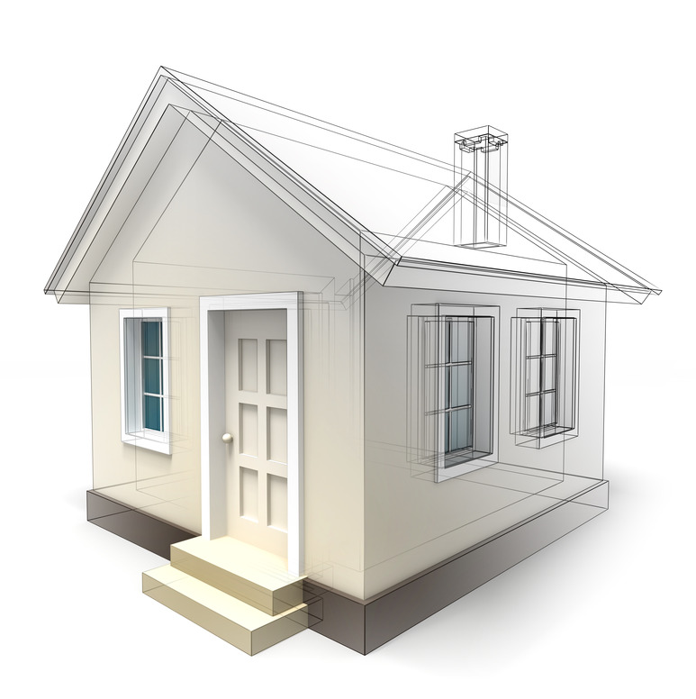 house design sketch on white background. clipping path included